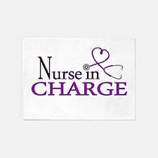 Nurse in Charge - Purple 5'x7'Area Rug