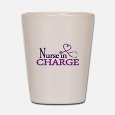 Nurse in Charge - Purple Shot Glass