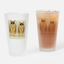 Two Owls Embroidery Drinking Glass
