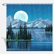 Mountain Sky Shower Curtain