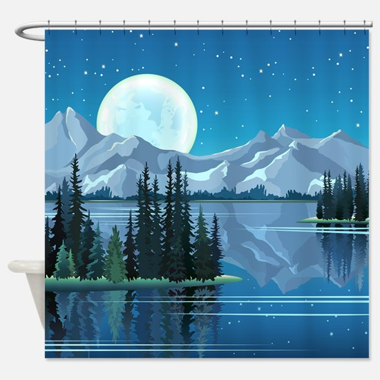 Mountain Sky Shower Curtain