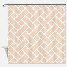 Peach Basket Weave Shower Curtain