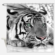 Lazy Tiger Shower Curtain