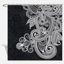 Black And White Decorative Shower Curtain