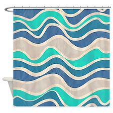 Waves Pattern Shower Curtain
