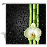 Bamboo orchid Shower Curtains