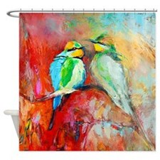 Beautiful Bird Painting Shower Curtain