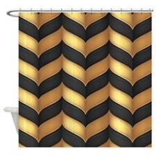 Black And Gold Shower Curtain