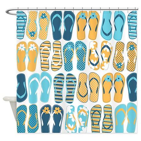 Fun Flip Flops Shower Curtain