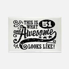 51st Birthday Rectangle Magnet