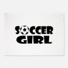 Soccer Girl 5'x7'Area Rug