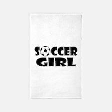 Soccer Girl 3'x5' Area Rug