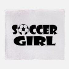 Soccer Girl Throw Blanket