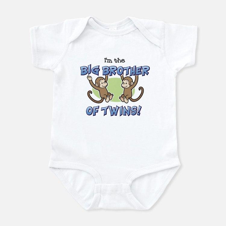 Big Brother of Twins (Monkey) Infant Bodysuit