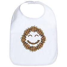 Morel Mushrooms Smiley face: Bib