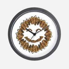 Morel Mushrooms Smiley face: Wall Clock