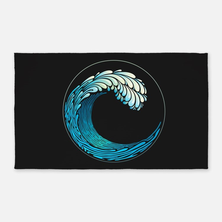 Ocean Wave 3'x5' Area Rug