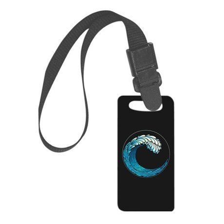 Ocean Wave Small Luggage Tag