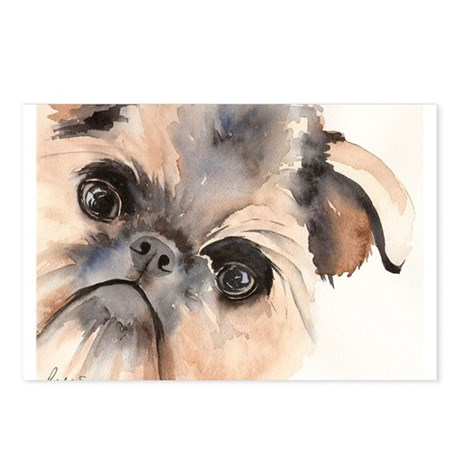 Brussels Griffon Stuff Postcards (Package of 8)