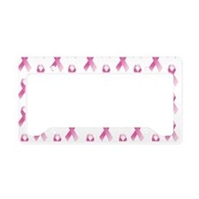 Breast Cancer Awareness Pink Ribbon License Plate