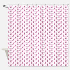 Breast Cancer Awareness Pink Ribbon Shower Curtain