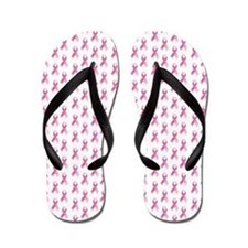 Breast Cancer Awareness Pink Ribbon Flip Flops