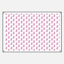 Breast Cancer Awareness Pink Ribbon Banner