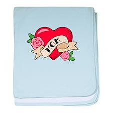 Mom Heart baby blanket