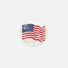 American Flag Waving distres Mini Button (10 pack)