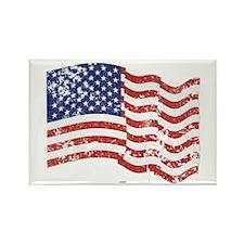 American Flag Waving di Rectangle Magnet (10 pack)