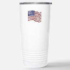 American Flag Waving di Stainless Steel Travel Mug