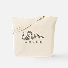 Join Or Die, Liberty Tote Bag