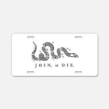 Join Or Die, Liberty Aluminum License Plate