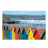 Beach huts Postcards