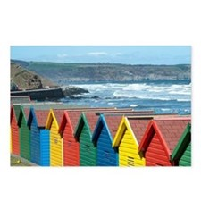 Brightly coloured beach h Postcards (Package of 8)