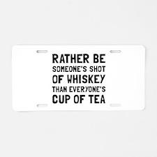 Shot Of Whiskey Aluminum License Plate