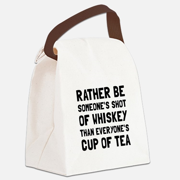 Shot Of Whiskey Canvas Lunch Bag