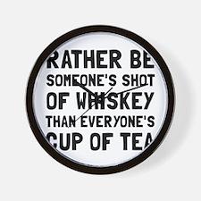 Shot Of Whiskey Wall Clock
