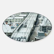 Commuter Train Sticker (Oval)