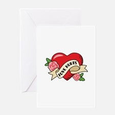 Love Hurts Heart Greeting Cards