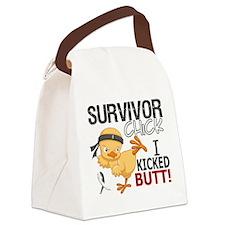 Carcinoid Cancer Survivor Chick 2 Canvas Lunch Bag