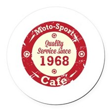 Moto-Sport Cafe Round Car Magnet