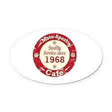 Moto-Sport Cafe Oval Car Magnet