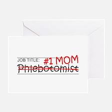 Job Mom Phlebotomist Greeting Card