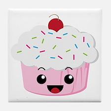 Kawaii Cupcake Tile Coaster