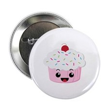 "Kawaii Cupcake 2.25"" Button"