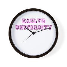 Kaelyn University Wall Clock