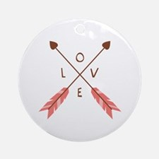 Love Heart Arrows Ornament (Round)