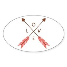 Love Heart Arrows Decal