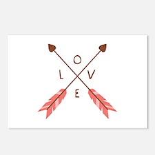 Love Heart Arrows Postcards (Package of 8)